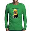 Mens Funny T-Shirt, Need Coffee Minion, Ideal Gift or Birthday Present. Mens Long Sleeve T-Shirt