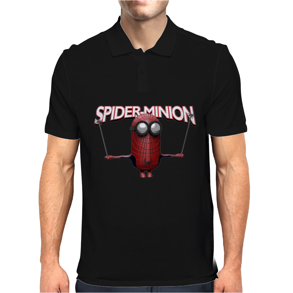 Mens Funny T-Shirt, Spider Minion, Ideal Gift or Birthday Present. Mens Polo