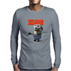 Mens Funny T-Shirt, The Walking Minion, Ideal Gift or Birthday Present. Mens Long Sleeve T-Shirt