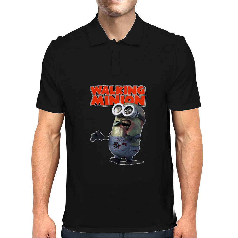Mens Funny T-Shirt, The Walking Minion, Ideal Gift or Birthday Present. Mens Polo