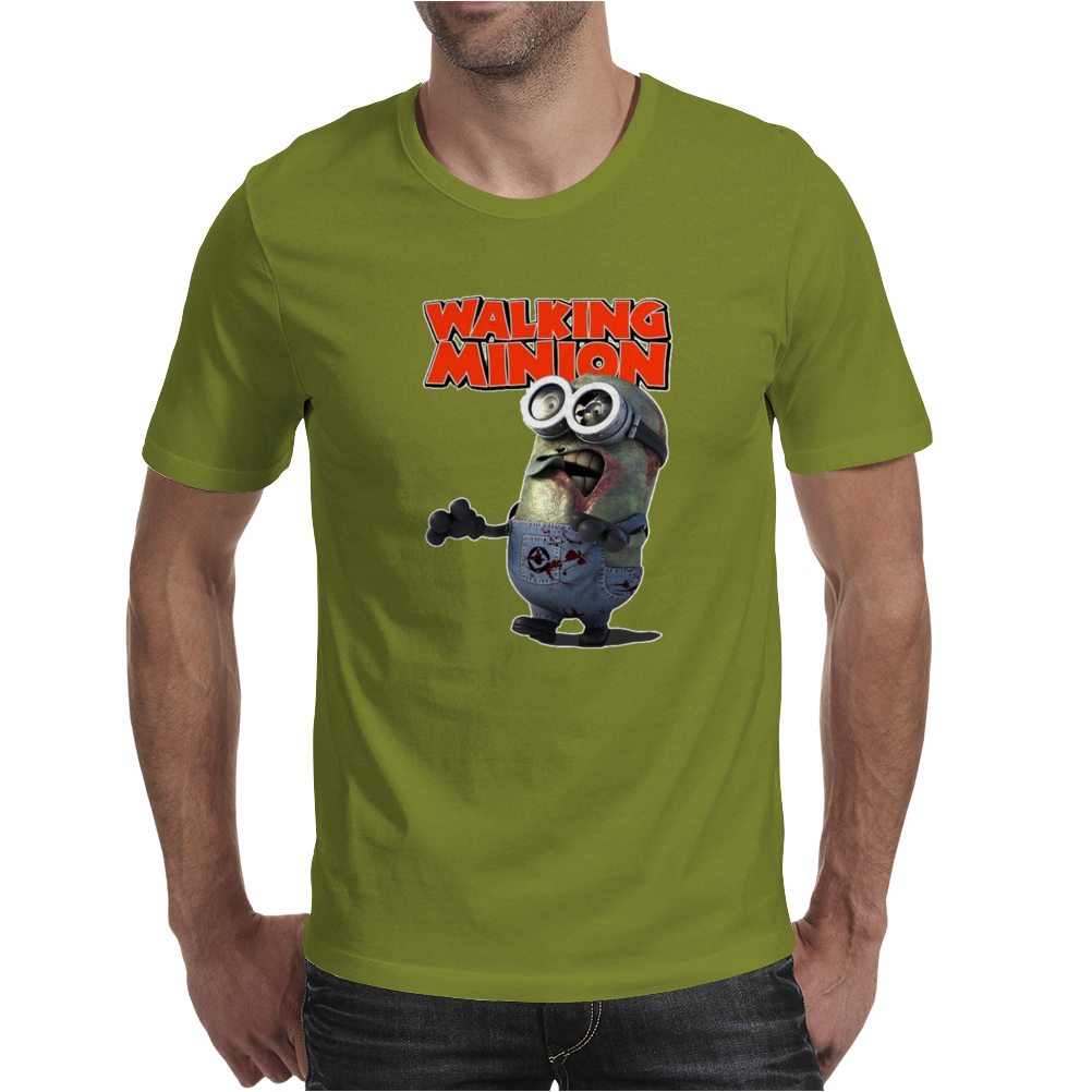 Mens Funny T-Shirt, The Walking Minion, Ideal Gift or Birthday Present. Mens T-Shirt