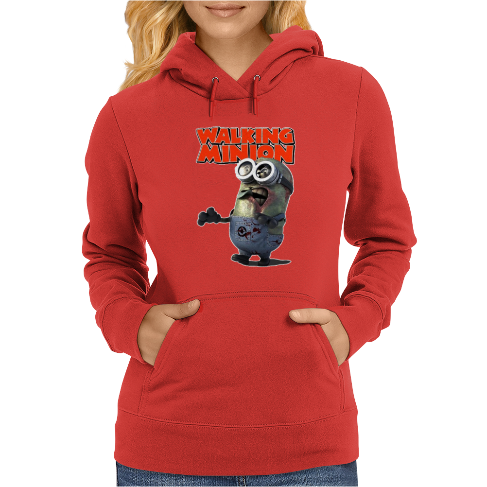 Mens Funny T-Shirt, The Walking Minion, Ideal Gift or Birthday Present. Womens Hoodie