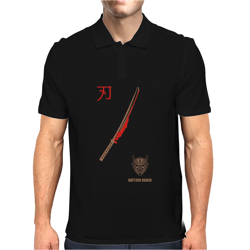 MENS HATTORI HANZO KILL BILL SAMURAI SWORDS JAPAN COOL ACTION MOVIE Mens Polo