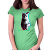 Meow - a cool kitty Womens Fitted T-Shirt