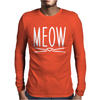 Meow Cute Cat Face Mens Long Sleeve T-Shirt
