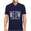 Meow Cute Cat Face Mens Polo