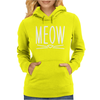 Meow Cute Cat Face Womens Hoodie
