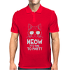Meow It's Time To Party Mens Polo