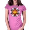Merkaba, Flower of Life, Sacred Geometry Womens Fitted T-Shirt