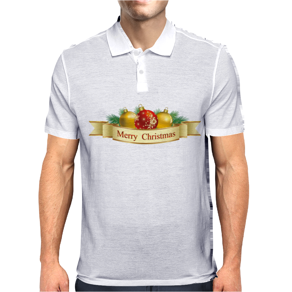 Merry Christmas 2015 Mens Polo