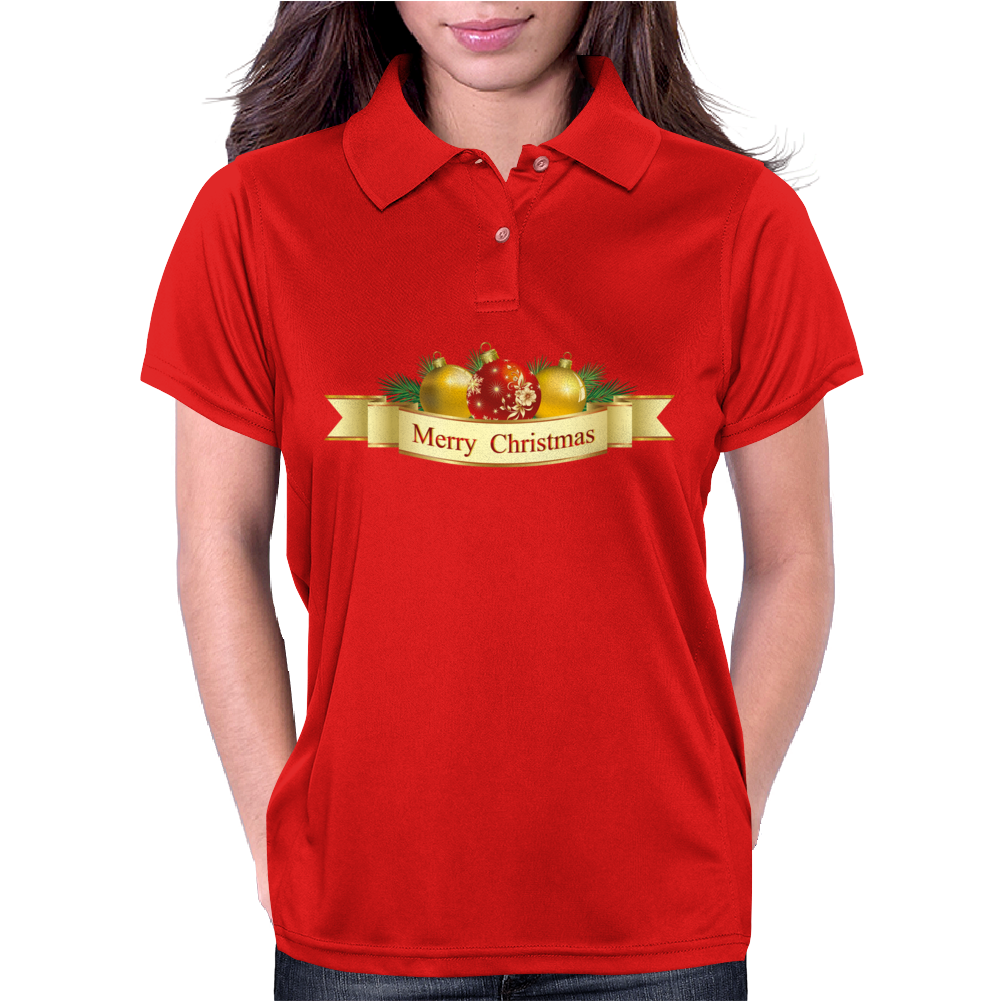 Merry Christmas 2015 Womens Polo