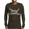 Merry Christmas Holiday Mens Long Sleeve T-Shirt
