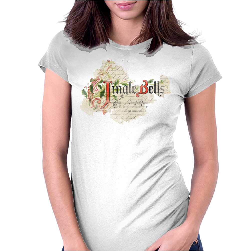Merry Christmas Jingle Bells Womens Fitted T-Shirt