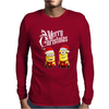 Merry Christmas Minions funny Mens Long Sleeve T-Shirt