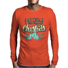 Merry Christmas Mustache Mens Long Sleeve T-Shirt