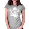 Merry Christmas Reindeer Antlers & Scarf Hat Womens Fitted T-Shirt