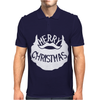 Merry Christmas Santa Beard Mens Polo
