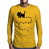 Messy Cat Mens Long Sleeve T-Shirt