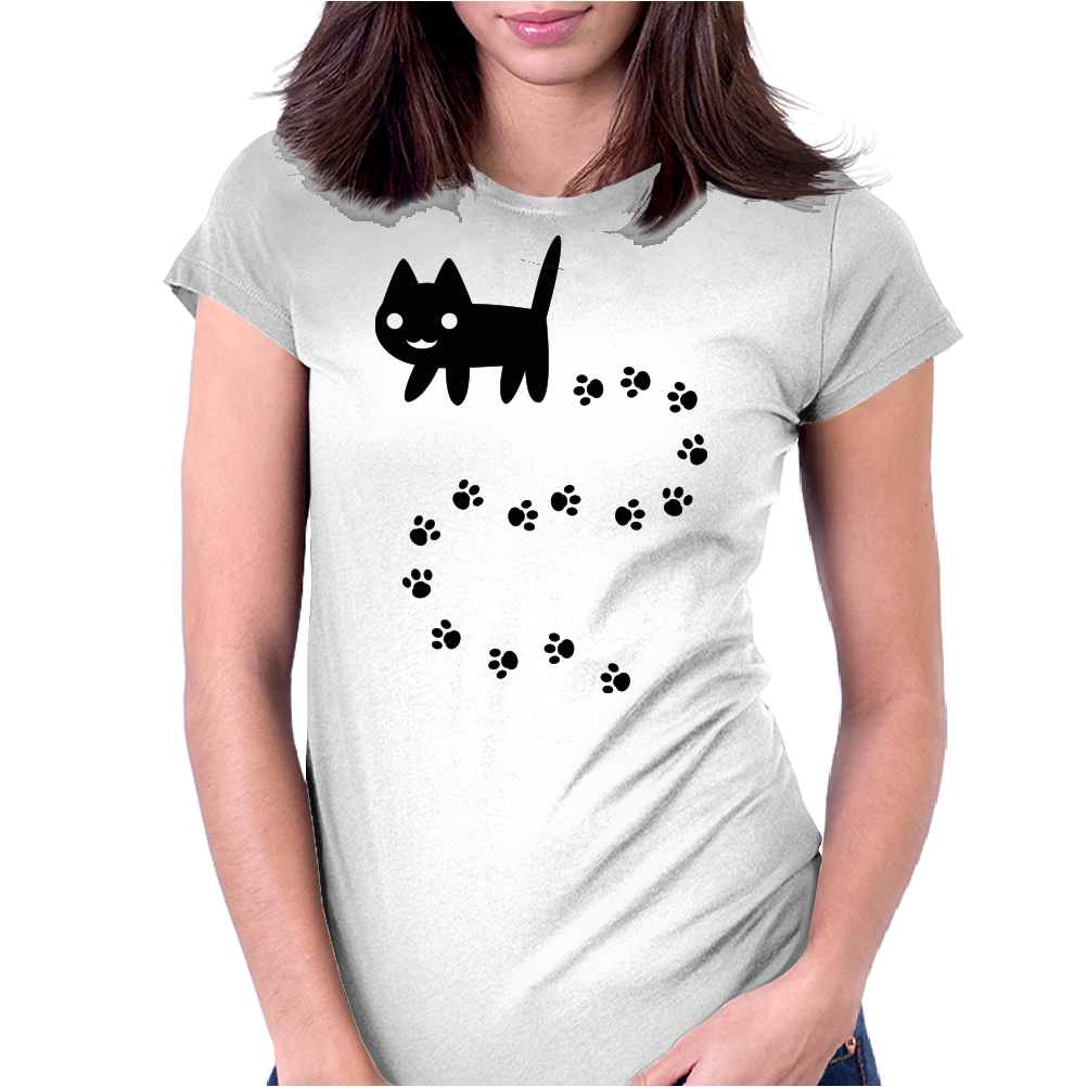 Messy Cat Womens Fitted T-Shirt
