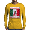 Mexican History, Written With Blood Mens Long Sleeve T-Shirt