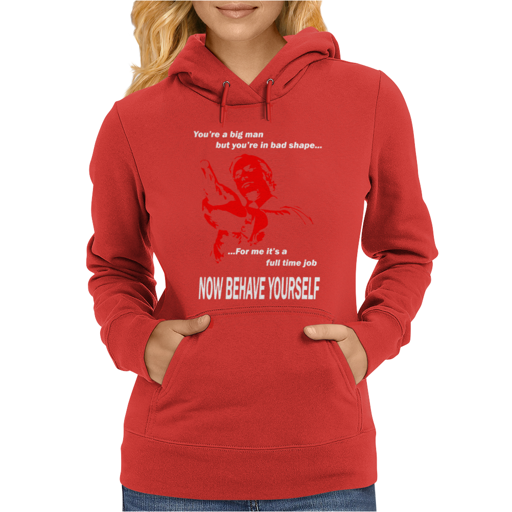 Michael Caine Get Carter Now behave Yourself Womens Hoodie