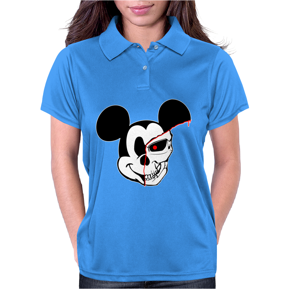 Mick The Mouse Terminator Womens Polo