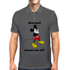 Mickey Mouse angry   Mens Polo