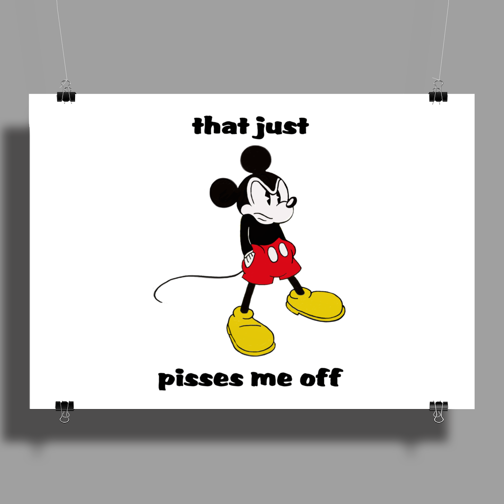 Mickey Mouse angry   Poster Print (Landscape)