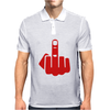 Middle finger Mens Polo