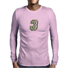 Military Number 3 - Camo Mens Long Sleeve T-Shirt
