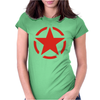 Military StarFunny retro army war Vietnam USA Britain fashion Womens Fitted T-Shirt