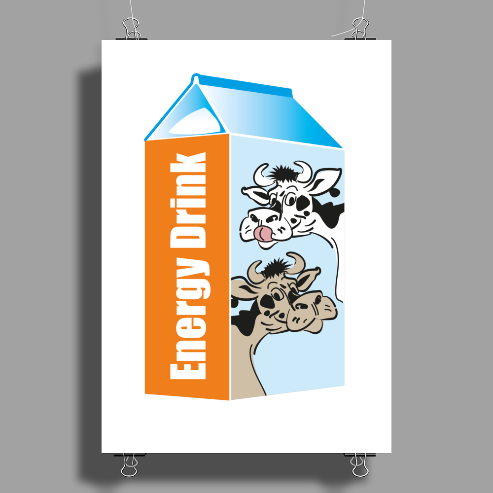 Milk – your Energy Drink Poster Print (Portrait)