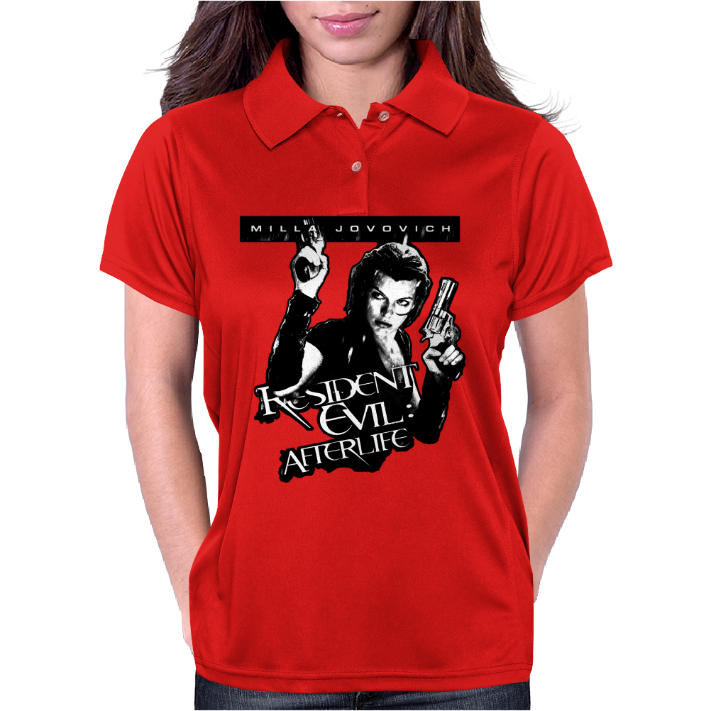 Milla Jovovich in Resident Evil Afetrlife Womens Polo