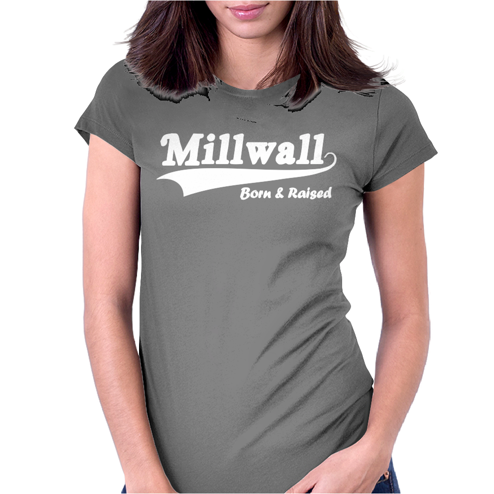 Millwall Born and Raised Retro Womens Fitted T-Shirt