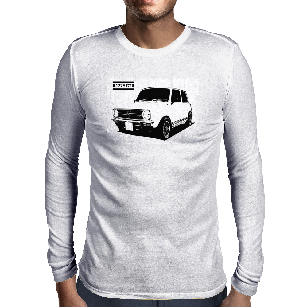 Mini 1275 GT Classic British Car Mens Long Sleeve T-Shirt