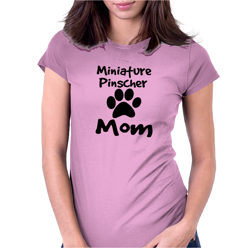 Miniature Pinscher Mom Womens Fitted T-Shirt