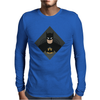 Minimalist Batman Mens Long Sleeve T-Shirt