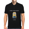 Minion Despicable Me Everyone Knows A Dave Mens Funny Mens Polo