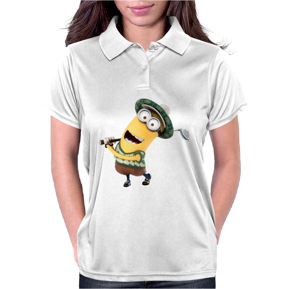 Minion Dispicable Me Golfer Womens Polo