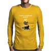 Minion I'm Not A Morning Minion Despicable Me Mens Funny Mens Long Sleeve T-Shirt