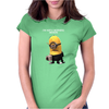 Minion I'm Not A Morning Minion Dispicable Me Womens Funny Womens Fitted T-Shirt