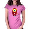 Minion Iron Man Funny Womens Fitted T-Shirt