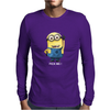 MINIONS Pick me Despicable Me 2 Gru Agnes Banana Gru's Minion Face Funny Mens Long Sleeve T-Shirt