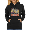 MINIONS T-shirt SUPERNATURAL Dave The Minion detective cartoon character funny Womens Hoodie