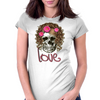 Miss Skull Womens Fitted T-Shirt