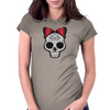 Miss Sugar Skull Womens Fitted T-Shirt