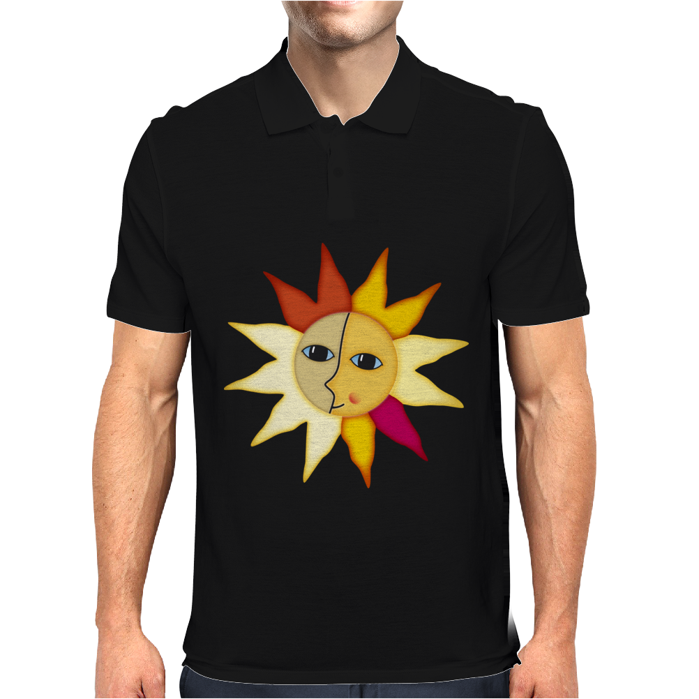 miss sunshine summer star face sunset sunrise blue eyes in love Mens Polo