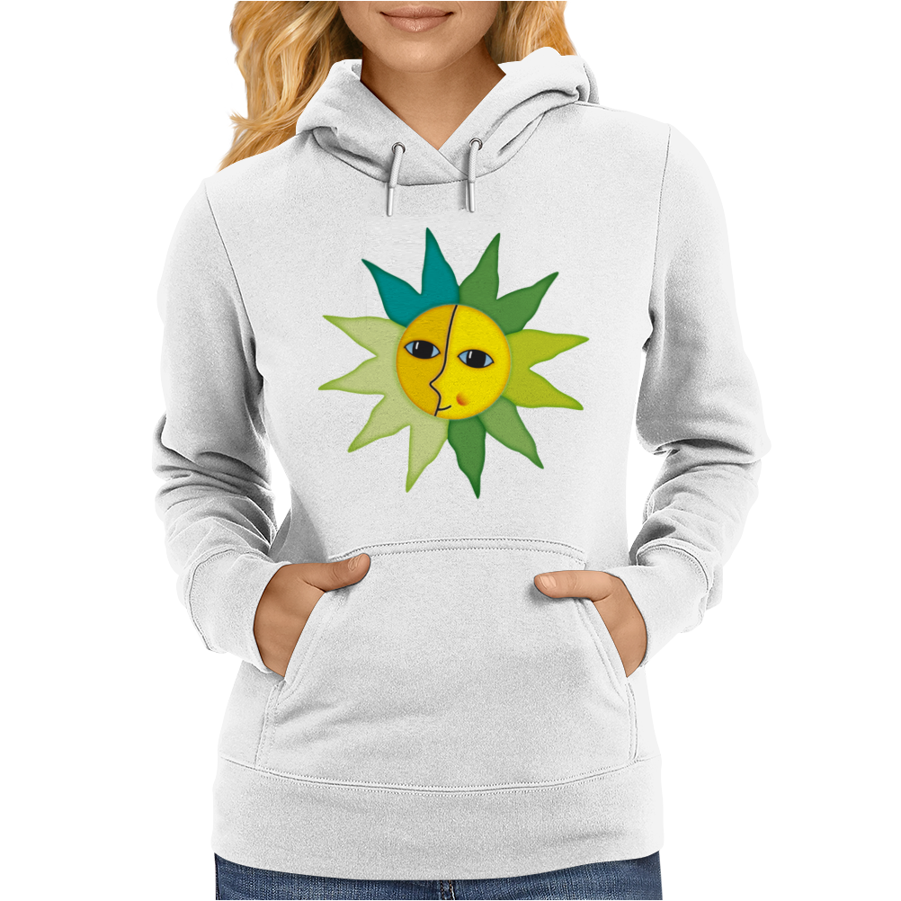 miss sunshine summer sunset sunrise blue eyes star face in love Womens Hoodie
