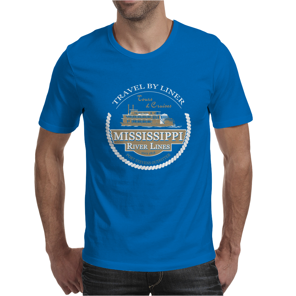 Mississippi paddle steamer Mens T-Shirt