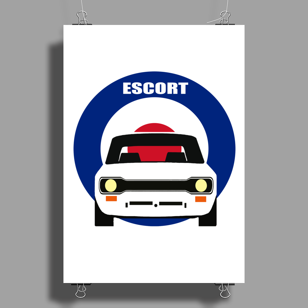 MK 1 ESCORT RS 1800 2000 MEXICO CLASSIC CAR Poster Print (Portrait)